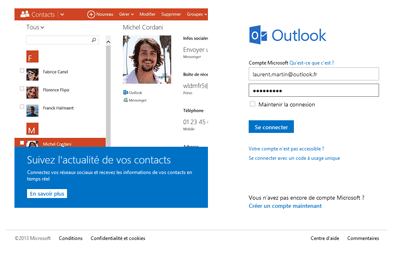 Connexion Outlook.com