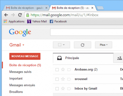 Onglets Gmail