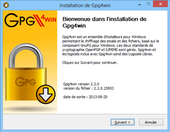 Installation de Gpg4win