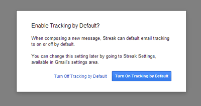 Enable Tracking by Default