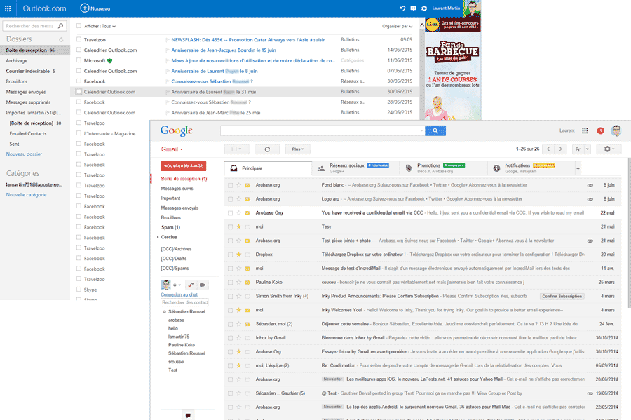 how to use gmail on outlook