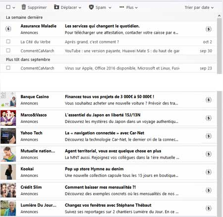 Annonces Yahoo Mail