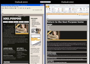 Outlook 2000 - Outlook 2010 - HTML / CSS