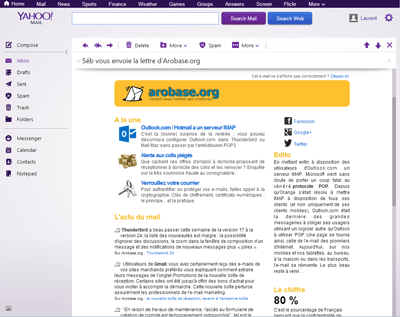 Yahoo Mail 2013