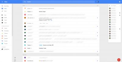 Nouveau Gmail - dossiers + hangouts