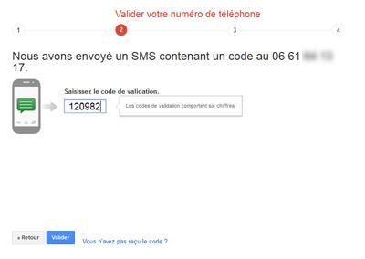 Valider le numéro de téléphone