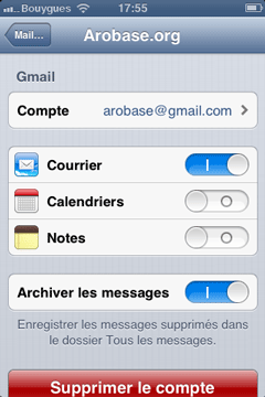 Archiver les messages
