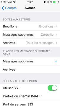 Avancé - iOS 7