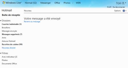 Votre message a été envoyé