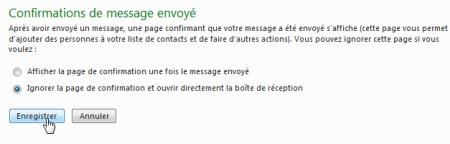 Confirmation de message envoyé