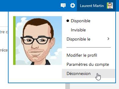 Déconnexion Outlook.com
