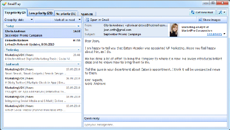Interface EmailTray