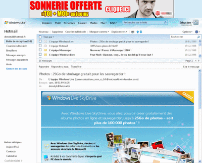 Hotmail en 2009
