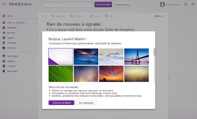 Bienvenue sur le nouveau compte Yahoo! Mail