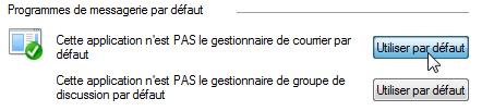 Utiliser Windows Live Mail par défaut
