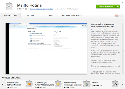 Extension Mailto Hotmail