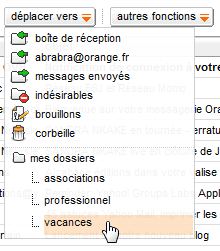 Déplacer un message Orange