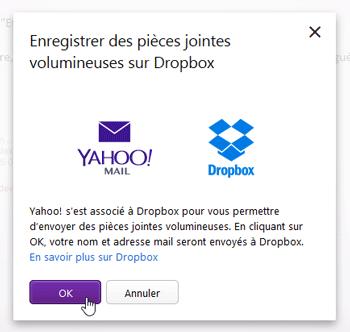 Information Yahoo Mail - Dropbox