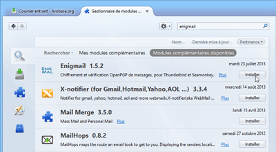 Extension Enigmail