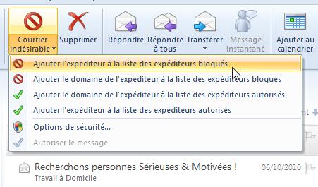 Comment puis-je bloquer les e-mails de sites de rencontre