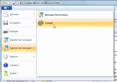 Export Windows Live Mail