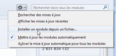 Installer un module depuis un fichier