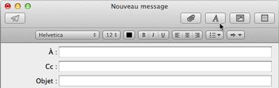 Barre d'outils de Mail