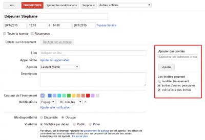 Gmail - Evénement