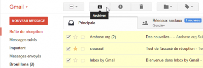 Archiver message Gmail