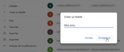 Gmail - Créer un libellé de Contacts