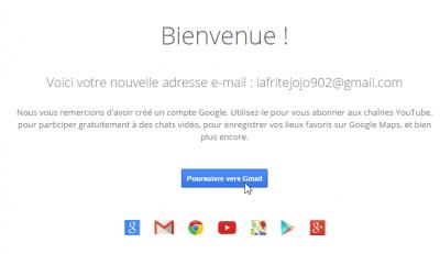 Nouvelle adresse Gmail