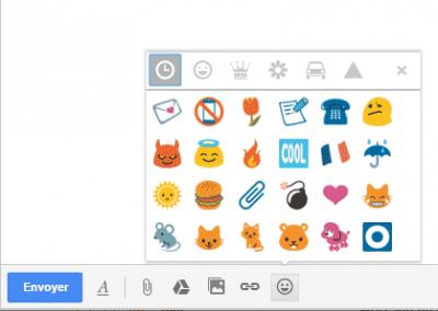 Derniers emojis utilisés