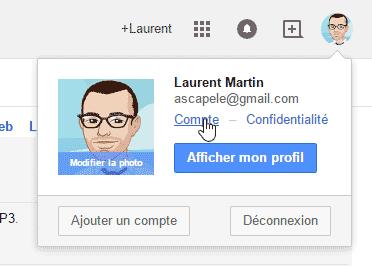 Gmail - Paramètres du compte