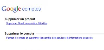 Supprimer Gmail de manière définitive