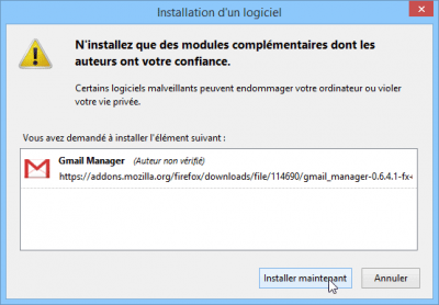 Installer Gmail Manager