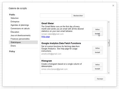 Installer Gmail Meter