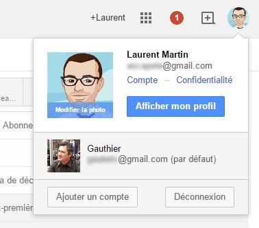 Bascule entre comptes Gmail