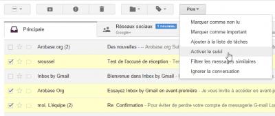 Gmail - activer le suvi