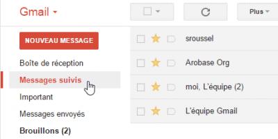 Gmail - Messages suivis