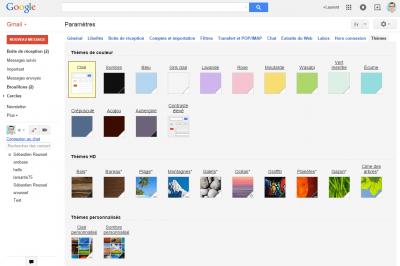 Gmail - Thèmes