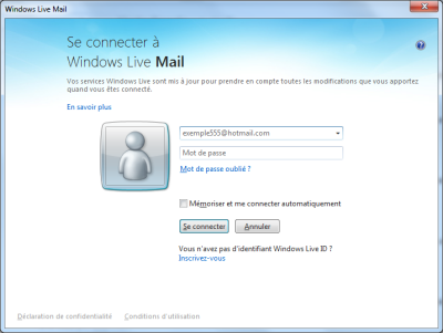 Connexion Windows Live