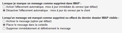 Suppression des messages Gmail sous IMAP
