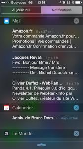 Centre de notifications
