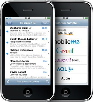 iPhone - Courrier électronique