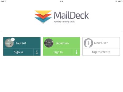 Accueil MailDeck