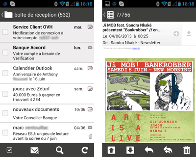 Mail Orange pour Android