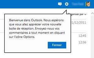 Bienvenue dans Outlook