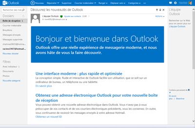 Nouveautés de Outlook
