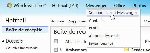 Se connecter à Messenger (Web)