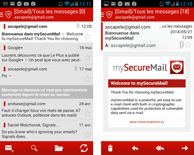 MySecureMail pour Android